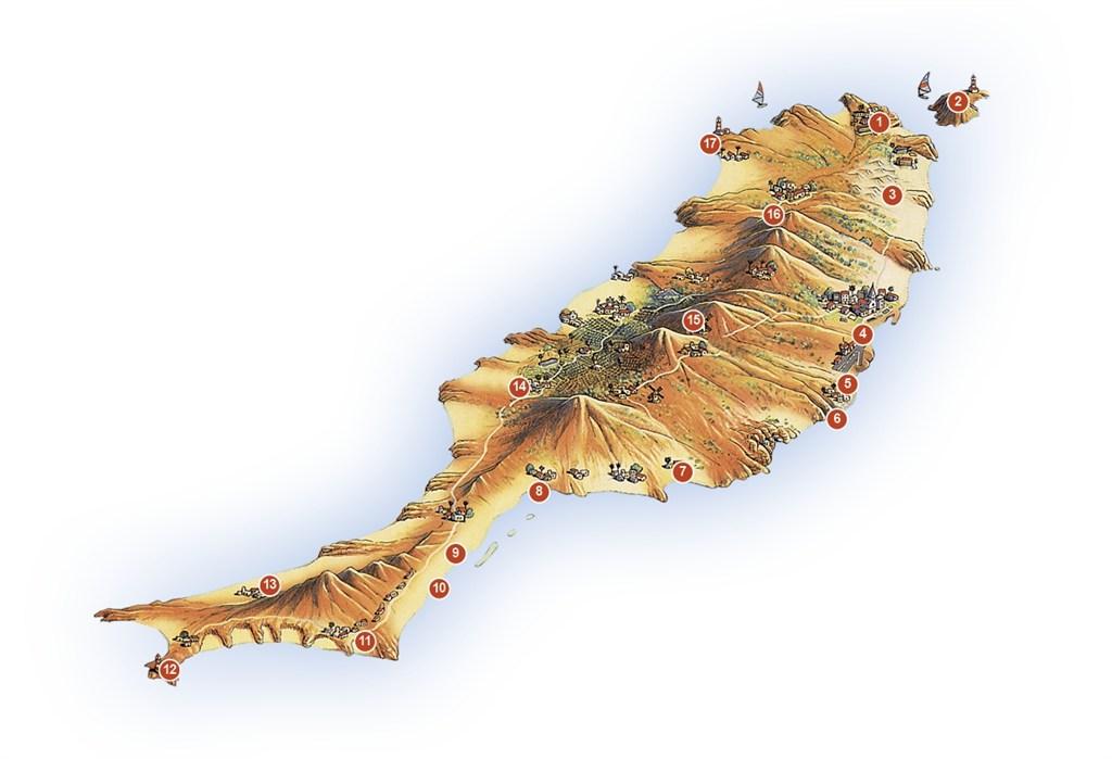 fuerteventura map